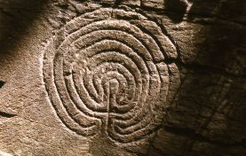 Petroglyphic Labyrinth, Rocky Valley, Cornwall, England