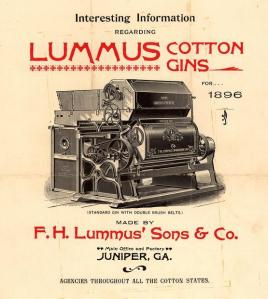Poster Advertising the 'Lummus Cotton Gin'