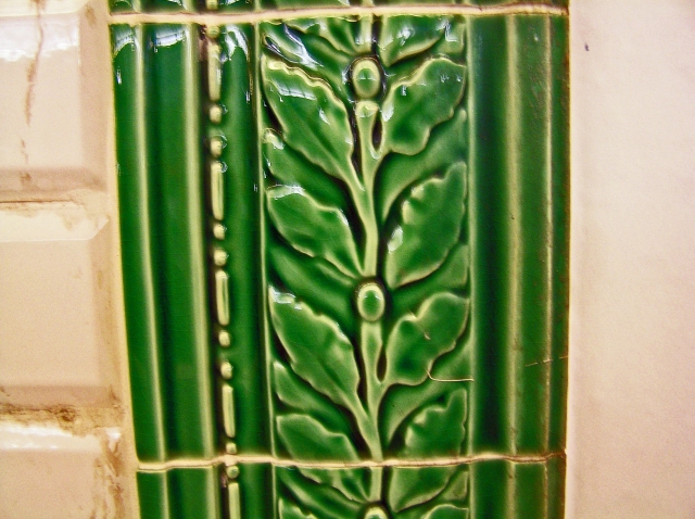 Ceramic Tile with Leaf Motif (Paris, St Lazaire Metro) 2010