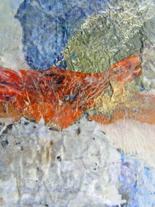 'Below the Line' (Close-up)Mixed Media Encaustic Painting