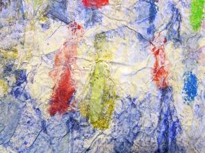 Paste Paint Paper Stencil Attempt Close Up I