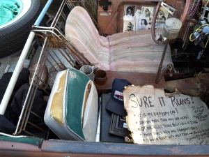 Friday Fictioneers Photo Prompt for 1 March 2013  Home Made Car  Copyright Beth Carter