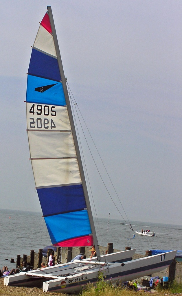 Boat with Bright Sail