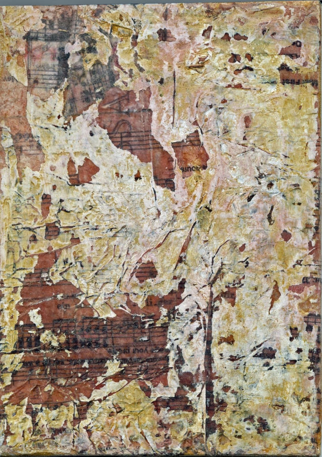 Canvas Board, Encaustic, Collage, Lemon Shellac, Texture Paste (System 3)