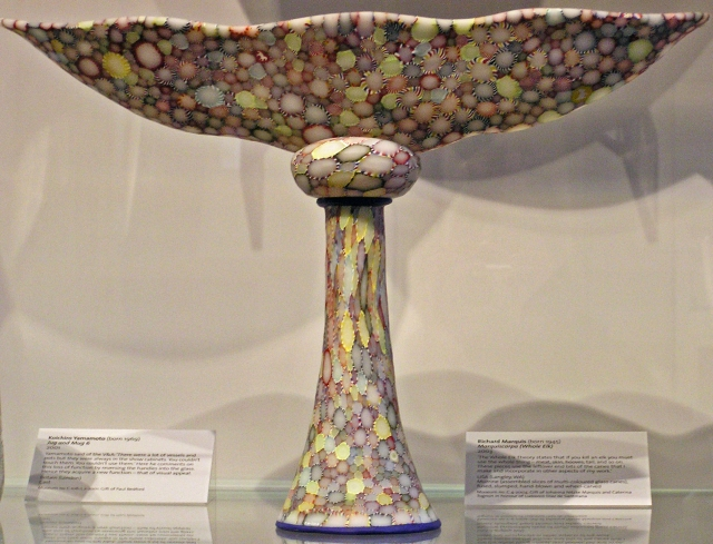 Glass Bowl on Pedestal, V & A Museum. Very elfish?