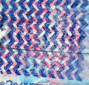 Blue Red Zig Zag Grid BTL Collages March 2014