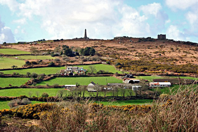 (c) Tony Atkin  Carn Brea Hill from the east for SW6840 (Licensed for reuse under Creative Commons Licence)