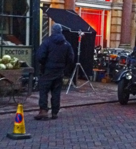 Jekyll and Hyde Filming Barrel of Melons Rochester High Street 17 February 2015