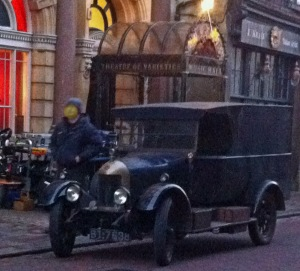 Jekyll and Hyde Filming Car Rochester High Street 17 February 2015
