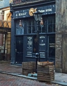 Jekyll and Hyde Filming J Kealy Tattoo Artist 17 February 2015
