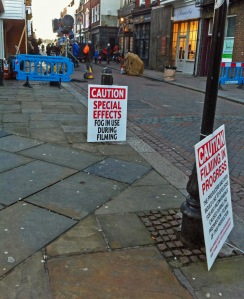 Jekyll and Hyde Filming Rochester High Street 17 February 2015