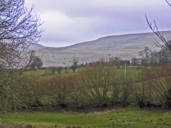 Black Mountains from Hay on Wye 28 February 2015