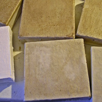 Canvasses with Added Plaster and Encaustic