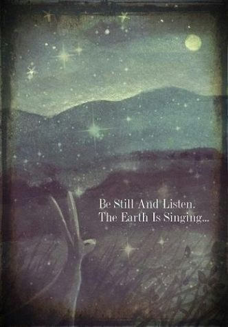 Be Still and Listen The Earth is Singing: Artist: Karen Davis