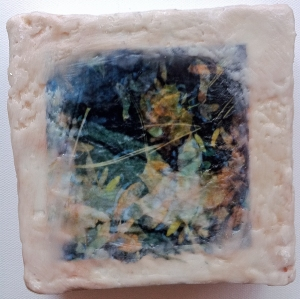 Pavillon Chinois I Plaster of Paris Encaustic 4x4 Canvas 27 October 2015