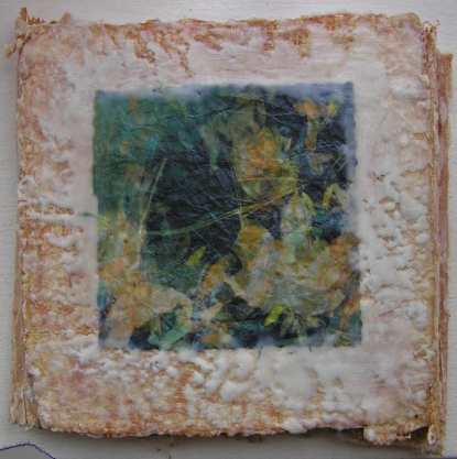 Plaster Encaustic Accordion Book Image I 19 October 2015