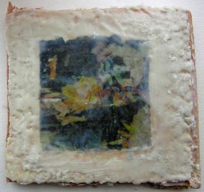 Plaster of Paris Encaustic Accordion Book Image V
