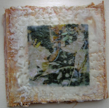 Plaster Encaustic Accordion Book Image VI 19 October 2015