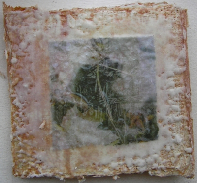 Plaster Encaustic Accordion Book IImage VII 19 October 2015