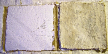 Artist Book in Progress Plaster of Paris and Encaustic