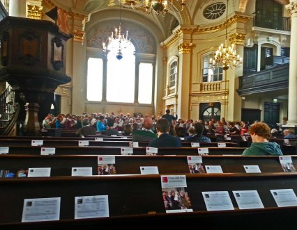 St Martin-in-the-Fields Handel Coronation Anthem Come and Sing Church and Window Saturday 31 October 2015