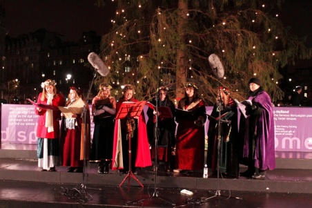 Carol Singers Trafalgar Square