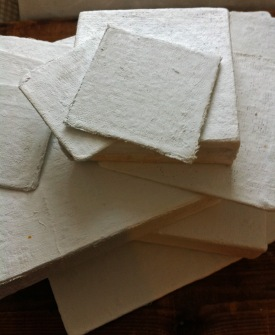 Pile of Plaster of Paris Prepared Panels and Canvases II 3 December 2015
