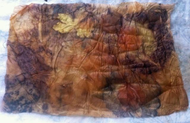 Eco Print on Silk Habotai 8